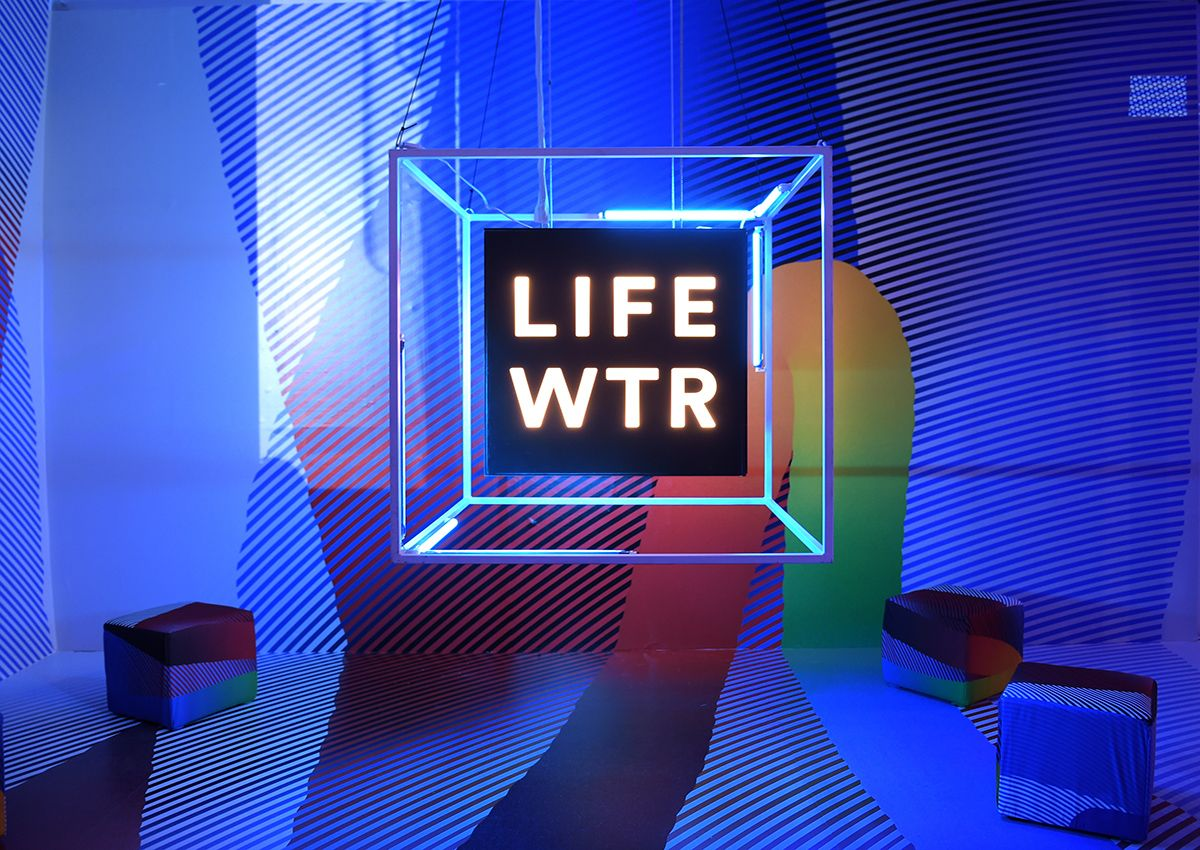 HOUSTON, TX - FEBRUARY 03:  LIFEWTR signage at  LIFEWTR: Art After Dark, including 1893, at Club Nomadic during Super Bowl LI Weekend on February 3, 2017 in Houston, Texas.  (Photo by Jason Kempin/Getty Images for LIFEWTR)