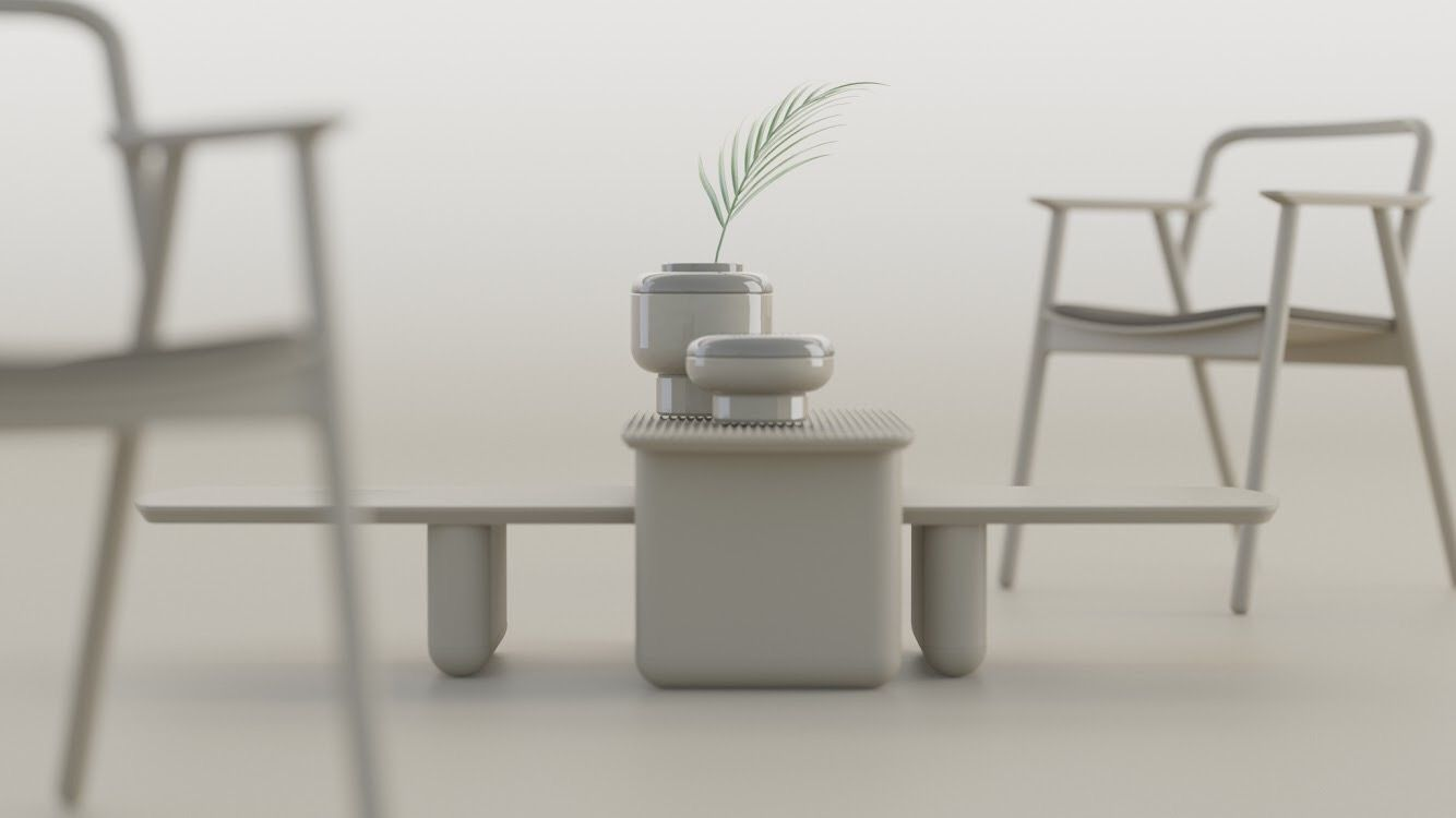 Smooth chair and Raise vase by SVOYA STUDIO (5)